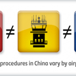 Operating procedures in China vary by airport system