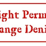 Permit Change Request Denied