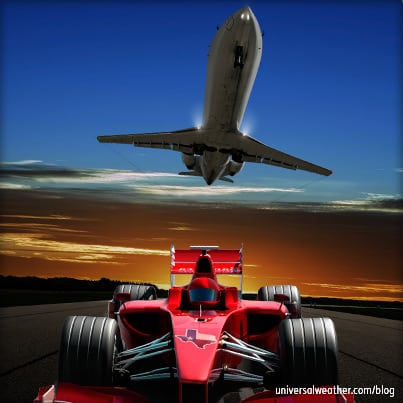 Flying to the Austin Formula 1 Grand Prix