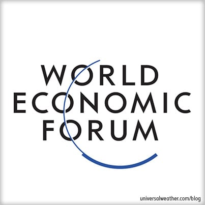 Flying to the 2012 World Economic Forum at Davos