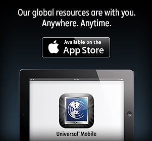 Universal Mobile - Our global resources are with you. Anywhere. Anytime.