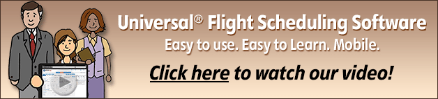 Universal Flight Scheduling Software - Easy to use. Easy to learn. Mobile. Watch our video!