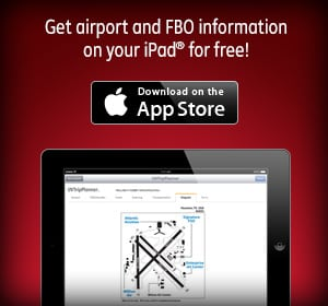 Get airport and FBO information on your iPad® for free! Download on the App Store.